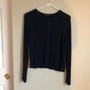 Blue long sleeve with buttons